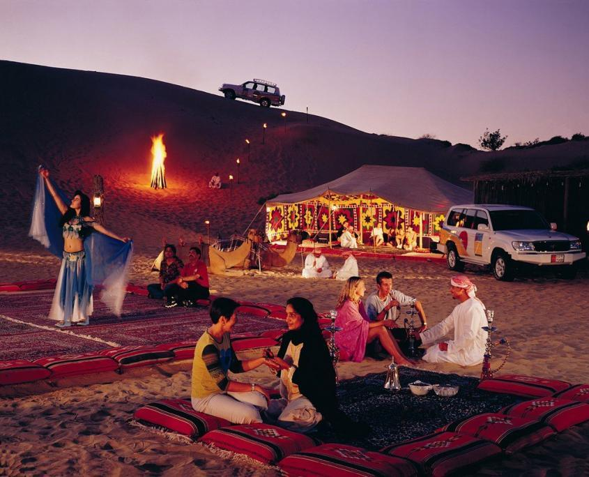 Stargazing in Arabian desert