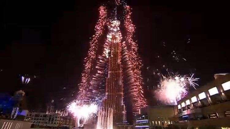 dubai firework